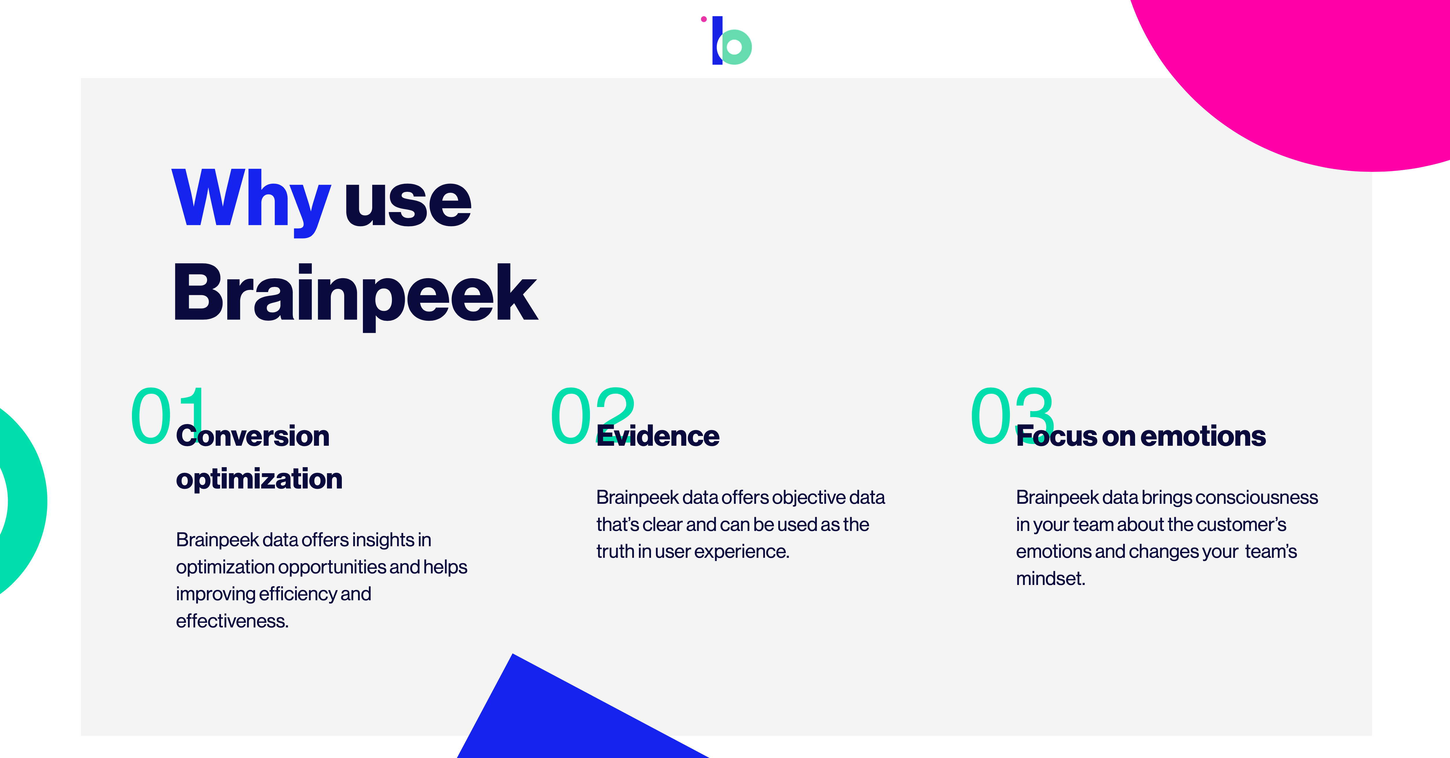 why use brainpeek